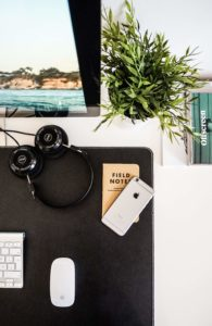 workspace from above